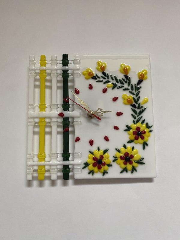 Ф'юзинг годинник Жовті квіти